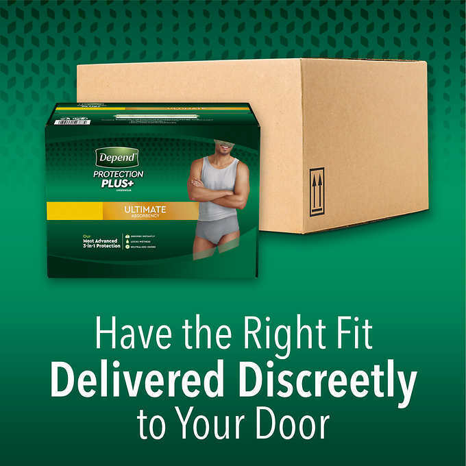 Depend FIT-FLEX Underwear for Men Size: Sm/Med - 92Ct - Free Shipping! 3
