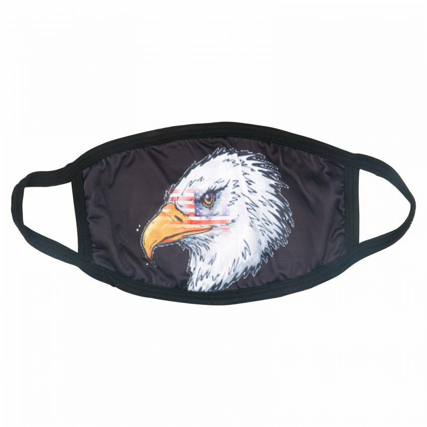 American Flag Bald Eagle Police Patriotic Reusable Protection Face Cover Mask 3