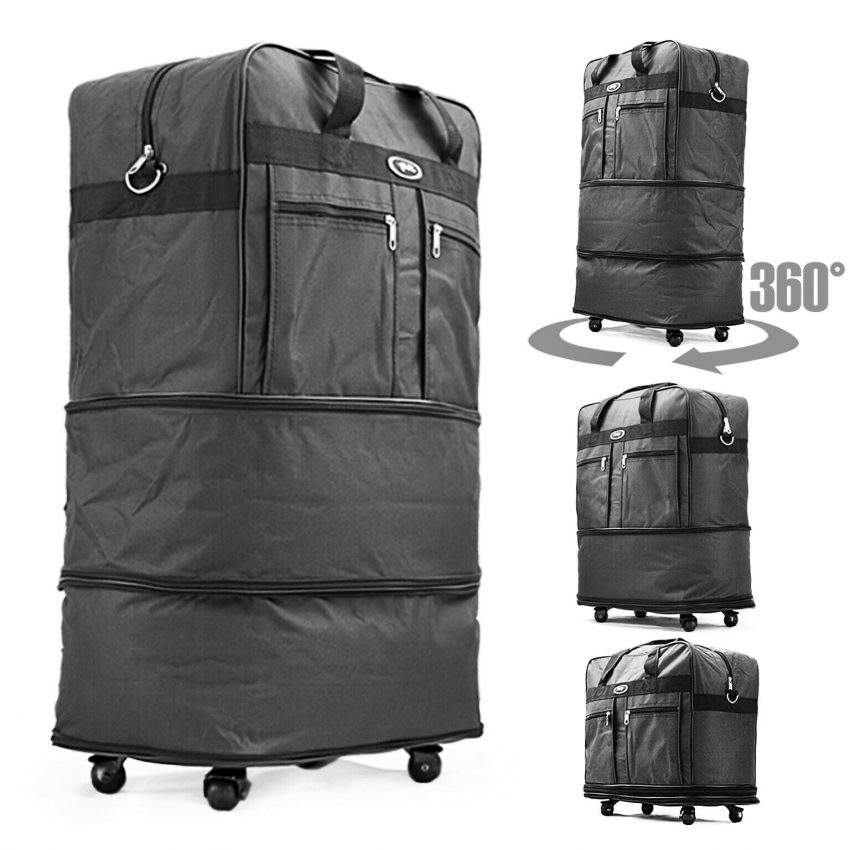 Expandable Rolling Duffel Luggage Travel Bag Wheeled Spinner Suitcase Luggage 1