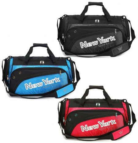 Duffel Bag Gym Carry on Suitcase Lightweight Padded Shoulder Strap 20