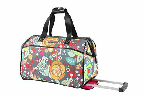 Luggage Designer Pattern Suitcase Wheeled Duffel Carry On Bag 22in Bliss 1