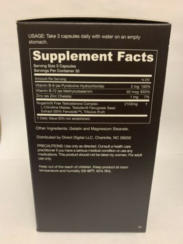 NUGENIX FREE TOTAL TESTOSTERONE BOOSTER Enhance Energy Muscle (90 Capsules)   3