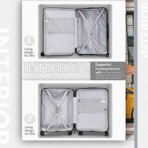 Luggage Suitcase Piece Set Carry On ABS+PC Spinner 20in(carry on) Night navy.. 6