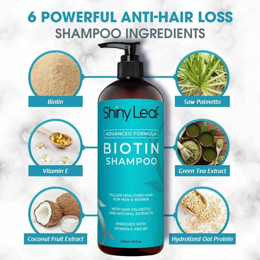 Biotin Hair Growth Shampoo and Conditioner Set Anti Hair Loss With DHT Blockers 3