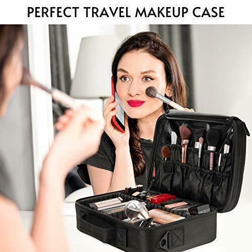Makeup Train Case 5 Layer Waterproof Large Capacity Travel Cosmetic Small - Black 4