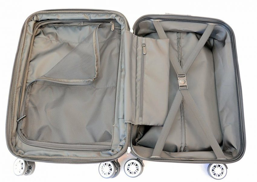 """20"""" Carry-on Luggage Expandable Spinner Trolley + Zippered Computer Pocket 2"""