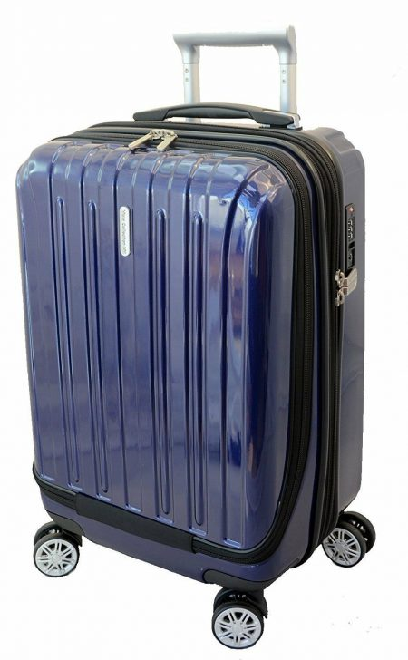 """20"""" Carry-on Luggage Expandable Spinner Trolley + Zippered Computer Pocket"""