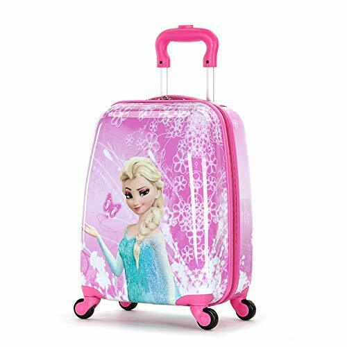 Frozen 18 Inch Luggage Hard Side Spinner Suitcase Carry on Luggage Pink 01