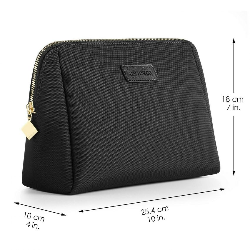 CHICECO Large Makeup Bag Toiletry Bag for Women Skincare Cosmetic Pouch 1 Black 5
