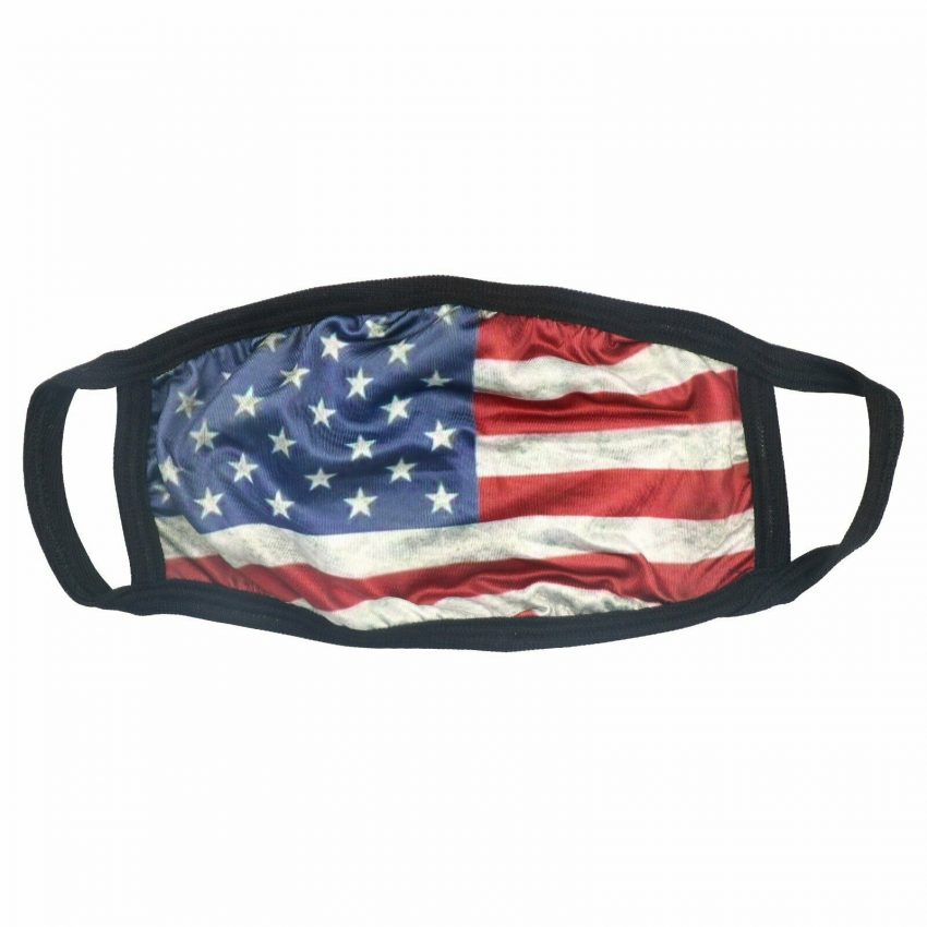 American Flag Bald Eagle Police Patriotic Reusable Protection Face Cover Mask 2