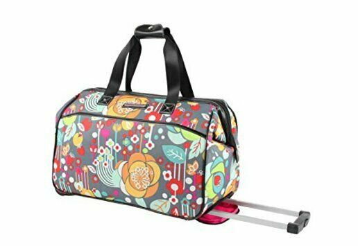 Luggage Designer Pattern Suitcase Wheeled Duffel Carry On Bag 22in Bliss