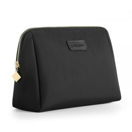 CHICECO Large Makeup Bag Toiletry Bag for Women Skincare Cosmetic Pouch 1 Black