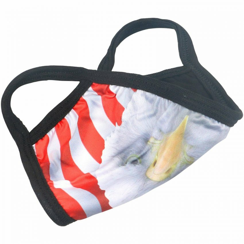 American Flag Bald Eagle Police Patriotic Reusable Protection Face Cover Mask 6