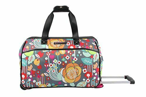 Luggage Designer Pattern Suitcase Wheeled Duffel Carry On Bag 22in Bliss 4