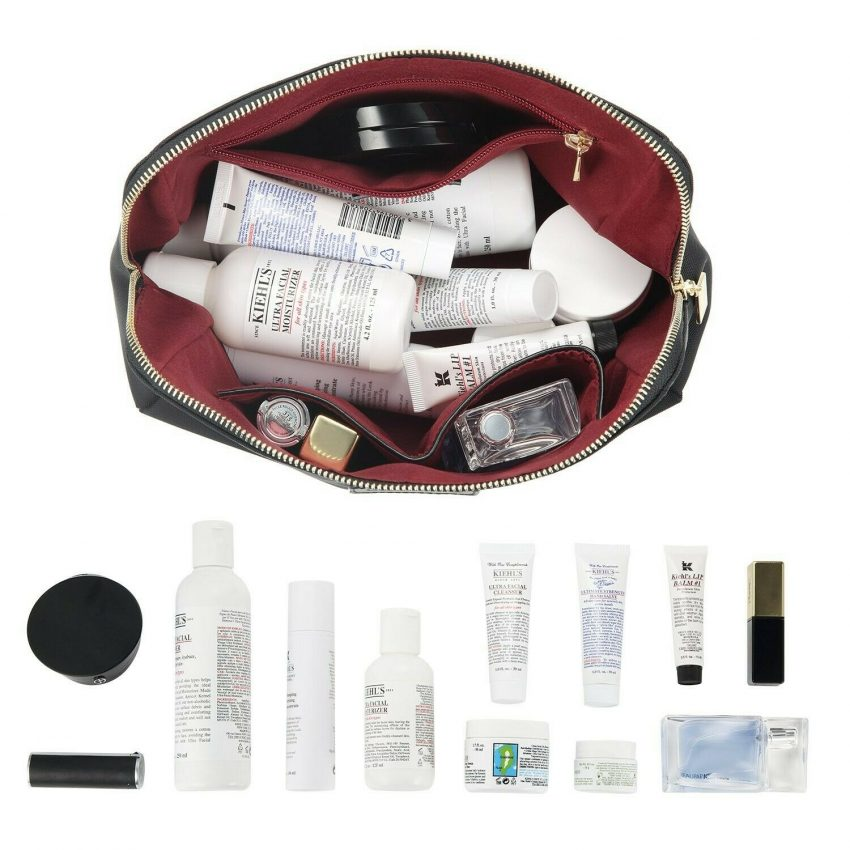 CHICECO Large Makeup Bag Toiletry Bag for Women Skincare Cosmetic Pouch 1 Black 1