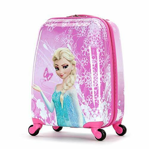 Frozen 18 Inch Luggage Hard Side Spinner Suitcase Carry on Luggage Pink 01 1