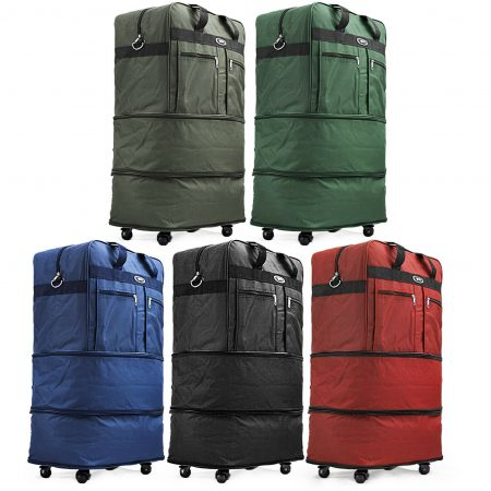 Expandable Rolling Duffel Luggage Travel Bag Wheeled Spinner Suitcase Luggage