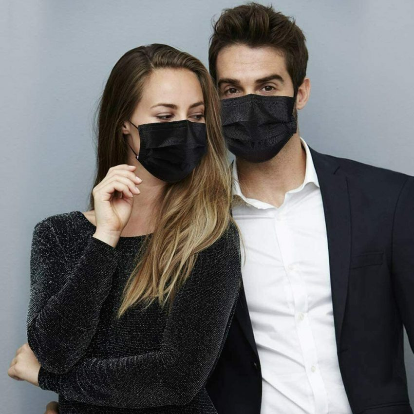 50 / 100 PCS Made in USA Black Face Mask Mouth & Nose Protector Respirator Masks 5