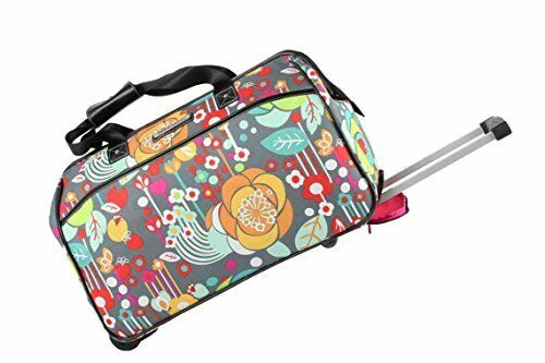 Luggage Designer Pattern Suitcase Wheeled Duffel Carry On Bag 22in Bliss 3
