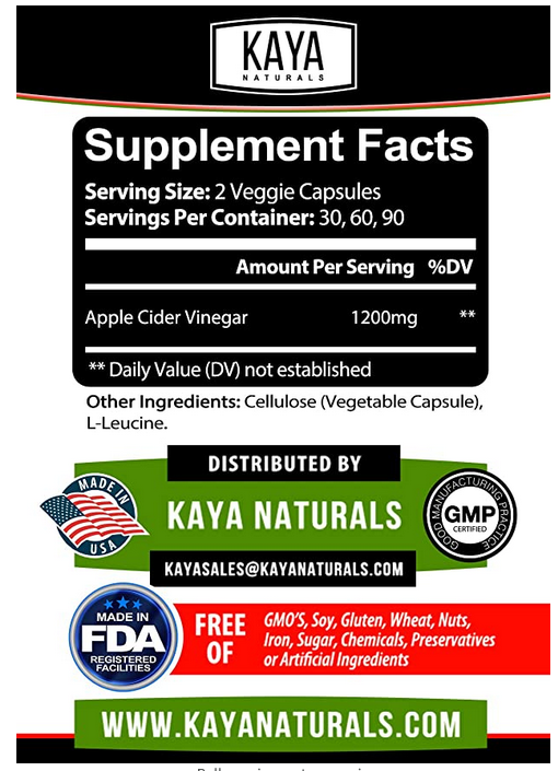 Apple Cider Vinegar Pills Fast Weight Loss Cleanse Appetite Suppressant Capsules 2