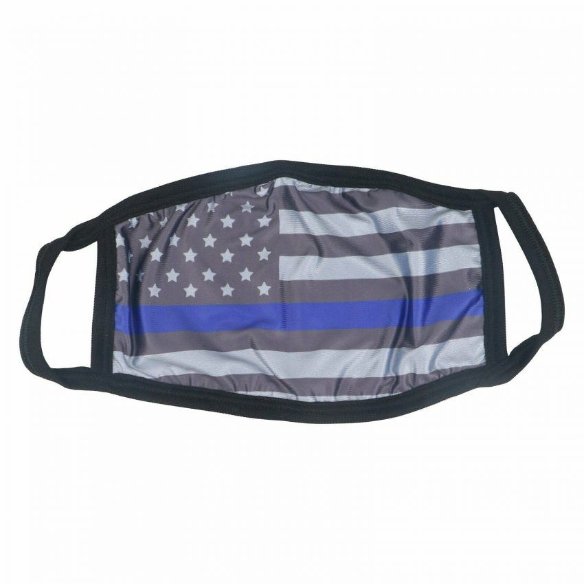 American Flag Bald Eagle Police Patriotic Reusable Protection Face Cover Mask 1